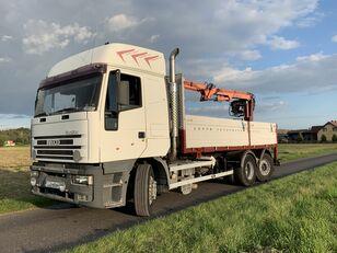 IVECO EUROSTAR 240E42 CRANE ATLAS ENGINE MANUAL POMP  camión caja abierta