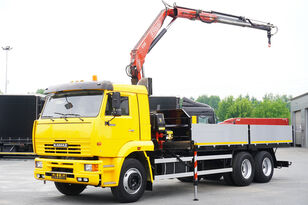 KAMAZ 65117 , 6x4 , Crane Fassi 95 , rotator , box 6m camión caja abierta
