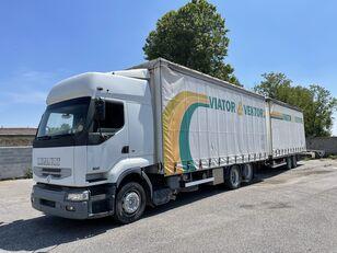 RENAULT Premium 420 camión con lona corredera + remolque con lona corredera
