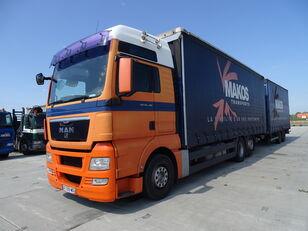 MAN TGX 18.480 / RETARDER / XXL / 13 L / FRENCH CAR / / / camión con lona corredera + remolque con lona corredera