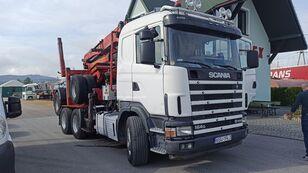 SCANIA R580 camión maderero + remolque maderero