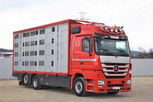 MERCEDES-BENZ ACTROS 2548 TIERTRANSPORTWAGEN 7,40m / 3STOCK camión para transporte de ganado