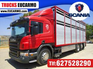 SCANIA P 380 camión para transporte de ganado
