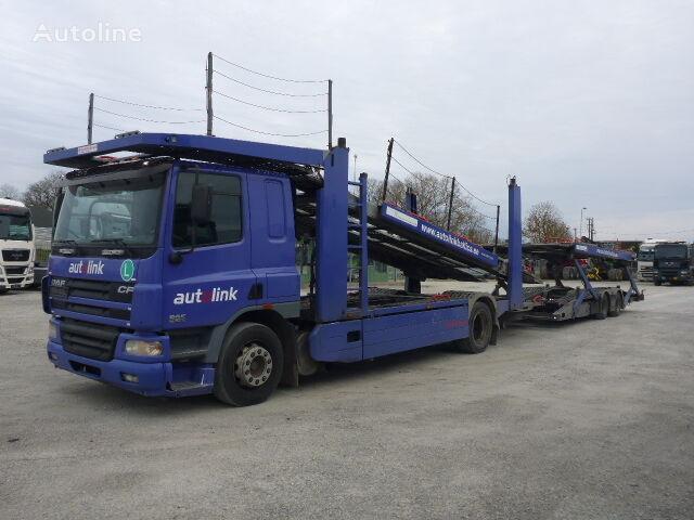 DAF 75.360  camión portacoches + remolque portacoches