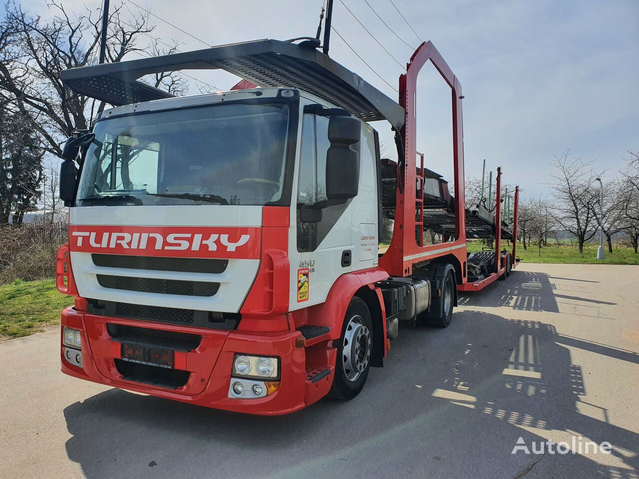 IVECO Stralis 440S45 intarder + Eurolohr camión portacoches + remolque portacoches