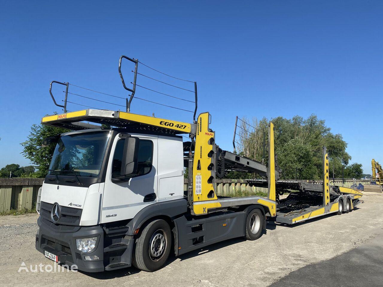 MERCEDES-BENZ Actros 1843 Rolfo EGO 427 komplett 2017 camión portacoches