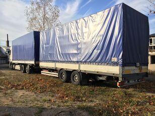 DAF XF95.430 camión toldo + remolque toldo