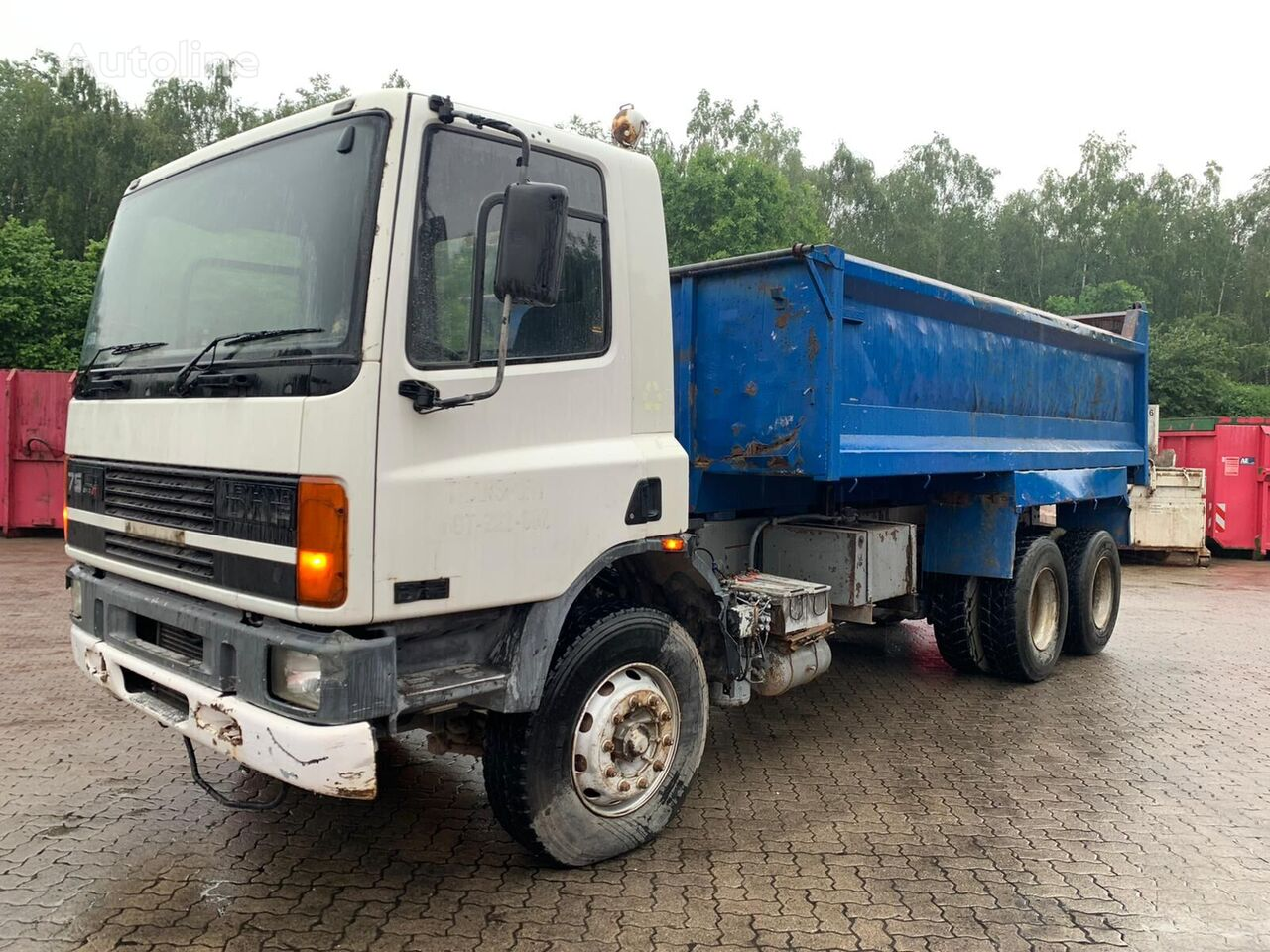 DAF CF75 6x4 tipper full steel manual, injector delivered to hamburg camión volquete