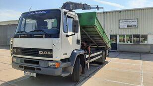 DAF 55.180 Ti  6 Cylinders Euro 2 / HIAB 650 Rotator x 4 volquete
