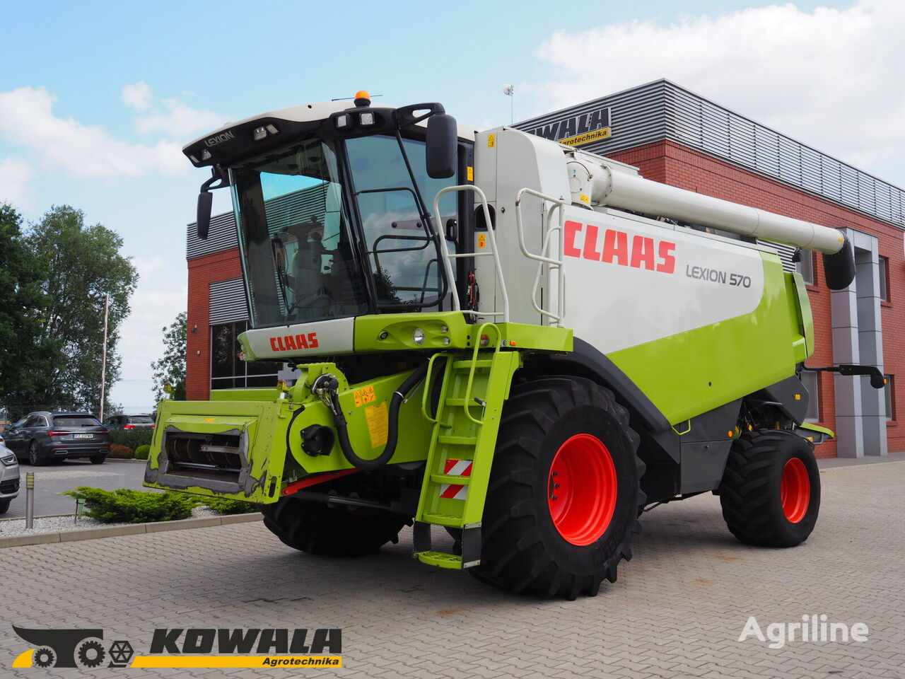 CLAAS Lexion 570 + V750 cosechadora de cereales