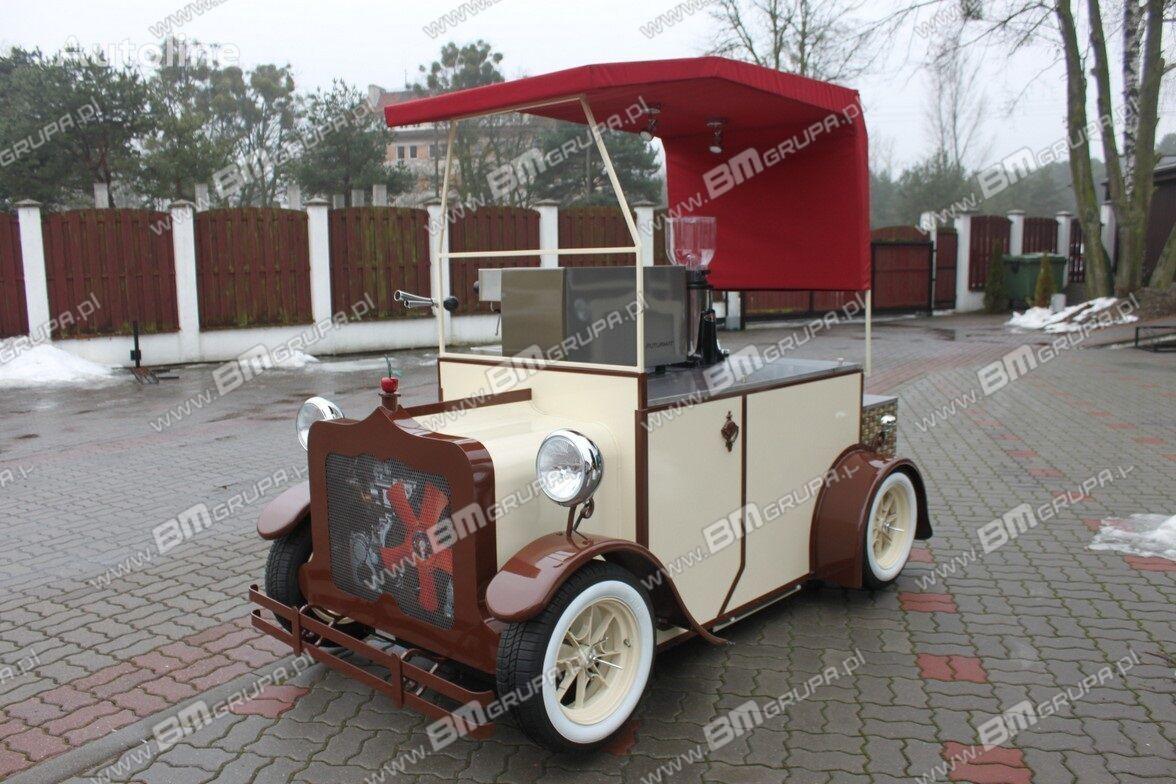 BMgrupa stand w stylu retro, stoisko gastronomiczne, catering trailers remolque de venta nuevo